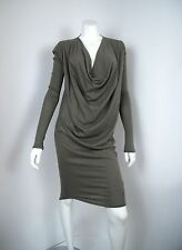 nwt Herff Christiansen Dress Drape Dress Long Sleeve sz M retail $160