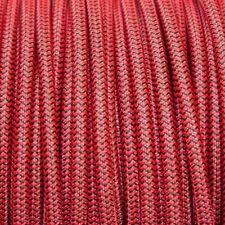 ROSSO & Nero Rotondo Intrecciato Tessuto Cavo MEX 0.5 mm per illuminazione (Cavo TEXTIL)