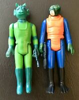 Star Wars Vintage Kenner 2 Figure Lot Walrusman & Greedo W/Blasters 1978