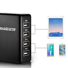 5V/2A/1A 4 Port USB Portable Home Travel Wall Charger EU Plug AC Power Adapter