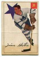1954/55 Parkhurst Tim Horton Card #31 Toronto Maple Leafs