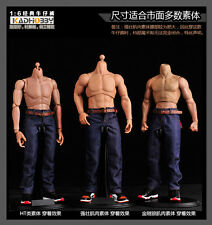 """1/6th Male Jeans Model Boy Pants F/12"""" Muscular Body Accessory Solider Action"""