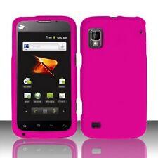 Hard Rubberized Case for ZTE Warp N860 - Hot Pink