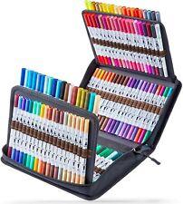 120 Colors Art Markers Set Ohuhu Dual Tips Coloring Brush Fineliner Color Marker