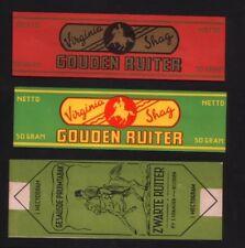 3 Old cigarette tobacco packet labels # 438