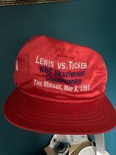1993 Lennox Lewis Baseball Cap V Tucker
