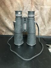 Vintage Binoculars. Rare Tasco Model # 470 With Original Caps&Split Pigskin Case
