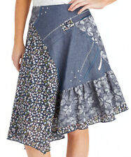 Cotton Calf Length A-line Casual Skirts for Women