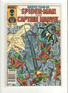 MARVEL TEAM-UP SPIDER-MAN & CAPTAIN MARVEL 1972 1ST SERIES MAY 1984 #142 8.0 VF