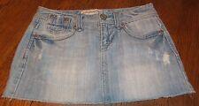Sz 1/2 AEROPOSTALE 5 Pocket Straight Denim Mini Skirt ~ Distressed