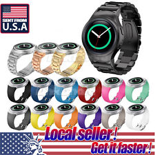 US Stainless Steel Silicone Watch Band For Samsung Galaxy Gear S2 SM-R720 R730 s