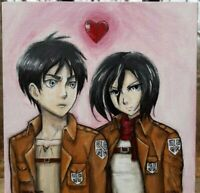 Original Acrylic Painting On A 8x8 Inch Canvas Panel. Sold By Arist. Aot fan art
