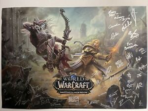 2017 BLIZZCON World of Warcraft Battle for Azeroth ALL DEVELOPERS SIGNED 14X20