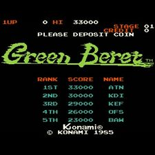 Used Green Beret Rush'n Attack Konami 1985 Arcade Jamma PCB F/S from JAPAN