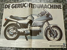 A182- BMW K100 ADD POSTER 1983 MOTORRAD SILVER  BIKE