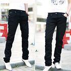 Fashion Men's Boys Slim Fit Straight Leg Casual Pants Pencil Business Trousers