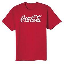 COCA COLA COKE SCRIPT LOGO RED T SHIRT L  NEW!!