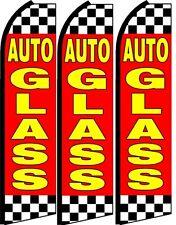 Auto Glass KingSize  Swooper Flag banner  sign pk of 3