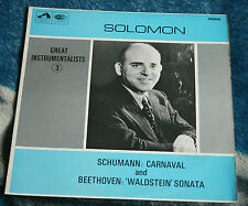 SOLOMON PLAYS SCHUMANN & BEETHOVEN UK LP HMV HQM 1077