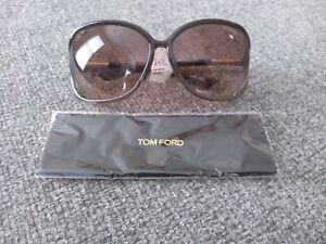 TOM FORD Raquel TF76 TF0076 Brown Fade Plastic Sunglasses Frame 63-14-120 Wrap