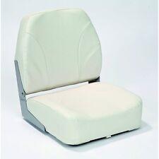 AWN Asiento de barco plegable Deluxe silla de cabina tapizado blanco de capitán