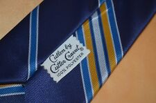 vtg retro striped Cutlon by Cutter Cravat neck tie swing atomic art deco hipster