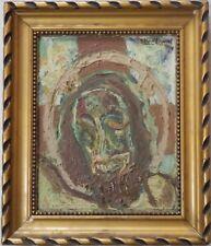 Edouard EYMARD (1924-), Huile sur carton, personnage religieux (17.5x14 cm)