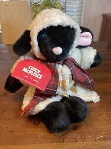 "Vintage 1984 Farm Floppies CURLY McFLEECE 15"" Plush Sheep Lamb W Tags! NICE RARE"