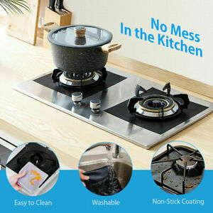 Stove Top Burner Gas Range Protector Reusable Liner Clean Non-stick Cover