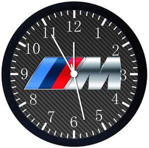 BMW M Black Frame Wall Clock E204
