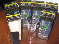 6 Orrefors OLLE ALBERIUS Crystal LIQUOR GLASSES Svenska Floran Orig. NEW in Box