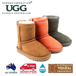 OZWEAR UGG KIDS CLASSIC UGG LONG BOOTS (WATER RESISTANT) 3 COLOURS OB007II