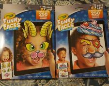 SET of 2 Crayola Funny Faces Zany Zoo & Crazy Costume For Smart Phone and Tablet