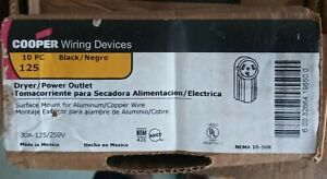 125 COOPER WIRING DEVICE DRYER POWER OUTLET 30A-125/250V (Box of 10)
