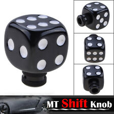 White Dice Universal Car Truck SUV Manual Stick Gear Shift Knob Lever Shifter