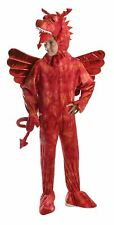 Red Dragon Costume 140cm, Boys/Kids/Childrens Fancy Dress Party Costume #IE