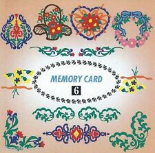 Janome Sewing Machine Floral Design Series Type: A/B Embroidery Memory Card #6