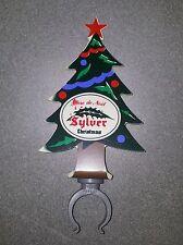 TRES ANCIEN CAVALIER PVC POMPE A BIERE DE NOEL BEER BIER SYLVER CHRISTMAS RARE