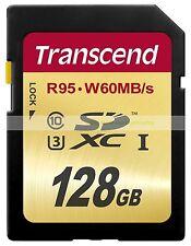 Transcend SDXC 128GB 128G 95MB/S Read 60MB/S Write Ultimate U3 UHS1 Card ct U