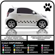 13 zampette adesive KIT di impronte zampe gatto decorazione auto  ADESIVI