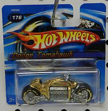 TOMAHAWK GOLD SHORT CARD MOTORCYCLE 176 DODGE BOYS MOPAR 2005 HW HOT WHEELS