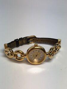 Anne Klein II Stainless Steel Gold Tone Quartz Watch WORKING
