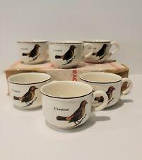 Villeroy And Boch RARE Paradiso Birds Teacups Set Of 6 NIB VTG Discontinued