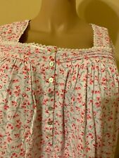 Eileen west nightgown 1X 100%  Cotton Pink / Red / White