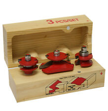 3PC CARBIDE PAISED PANEL CABINET CABINET ROUTER BIT WOOD DOOR