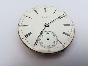 Elgin pocket watch movement 18s