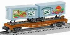 2016 RMLI Lionel 6-58555 Long island Farm Bureau flat car with 2 trailers new