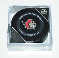 OTTAWA SENATORS 2020-2021 OFFICIAL NHL GAME PUCK New in Cube Team Logo Inglasco