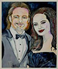 Portret Painting Angelina Jolie & Brad Pitt