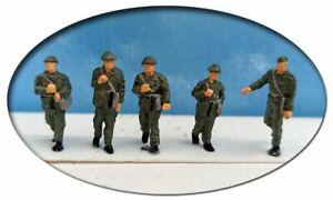 NVA, 1 Unteroffizier mit 4 Soldaten, Spur H0, 1:87